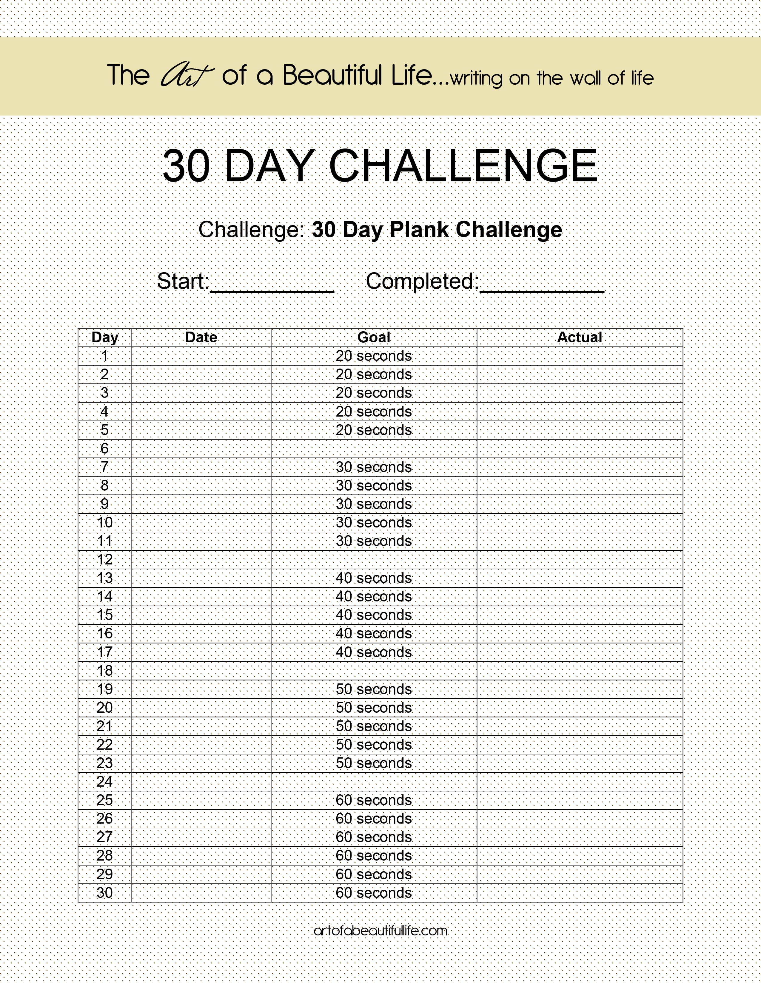 print out exercise log