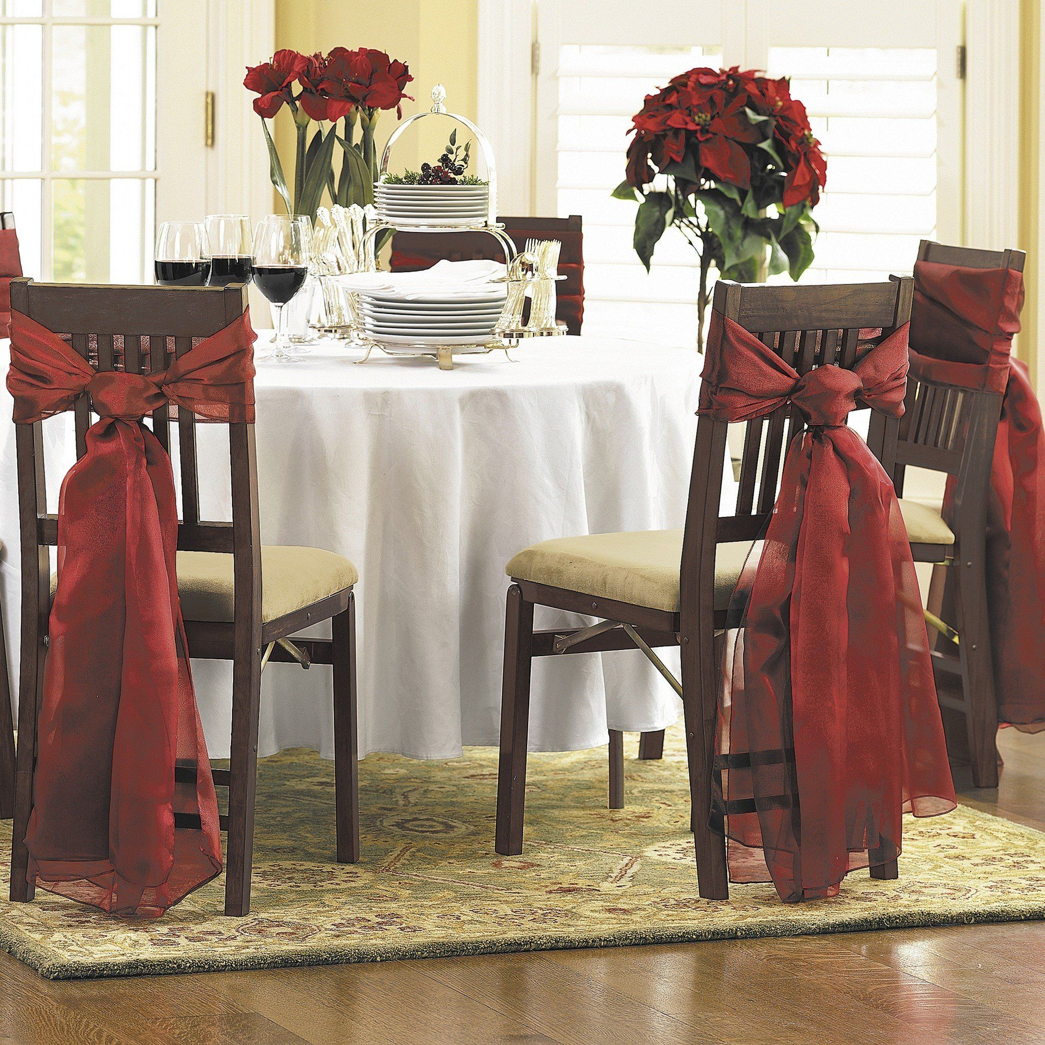 christmas wedding chair covers slipcover dining sillas decoradas de navidad espectacular