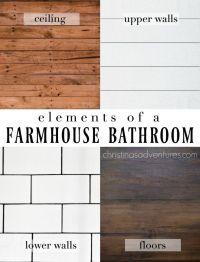 Farmhouse Bathroom Design | Subway tiles, Design elements ...