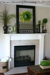 mantel decorating - | making a house a home | Pinterest ...