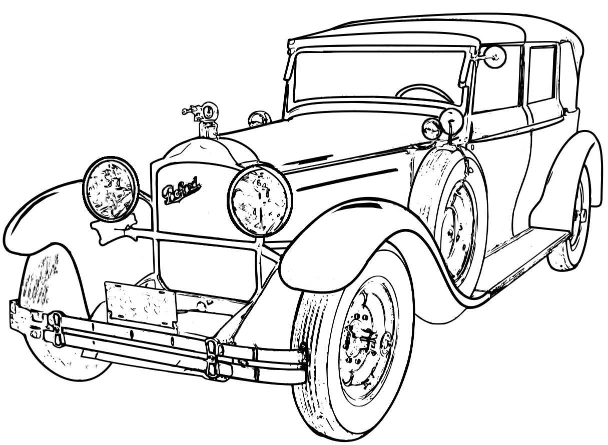 Detailed Line Drawings Classic Cars Google Search Adult