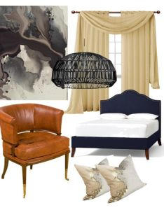 Bedroom blend of textures with original art by mcbyrd on polyvore featuring interior also rh pinterest