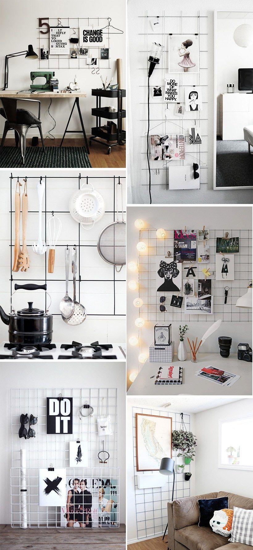Desks also diy inspiration metal grid room decor and bedrooms rh pinterest