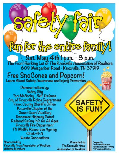 Safety Fair Flyer Sample At School Pinterest Safety