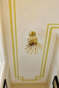 Border painted on the ceiling. Love this idea for a ...