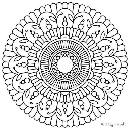 119 Printable Intricate Mandala Coloring Pages от