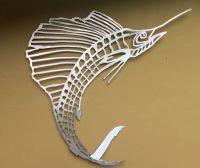 Sailfish bones metal fish art wall art metal fish art