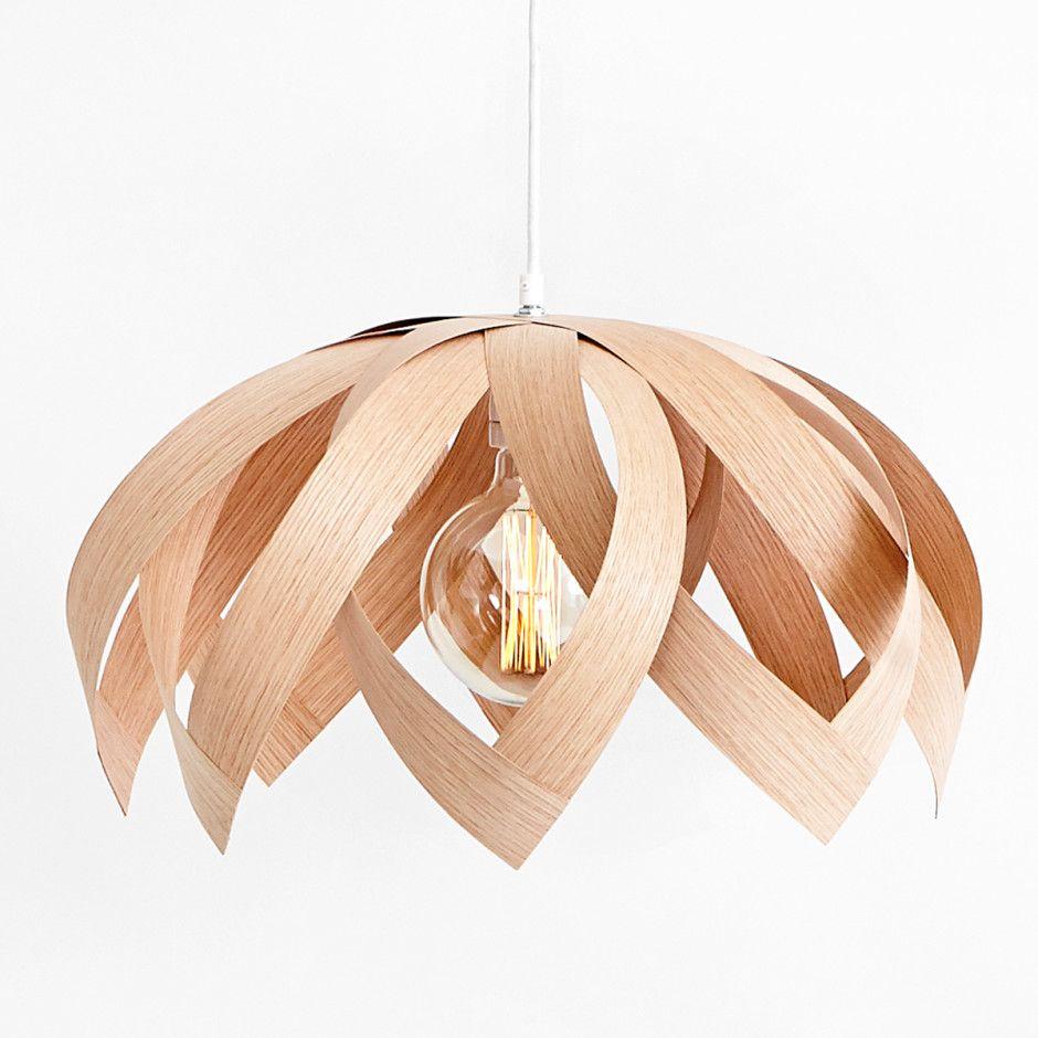 LOTUS OAK wooden veneer light by Yndlingsting made in