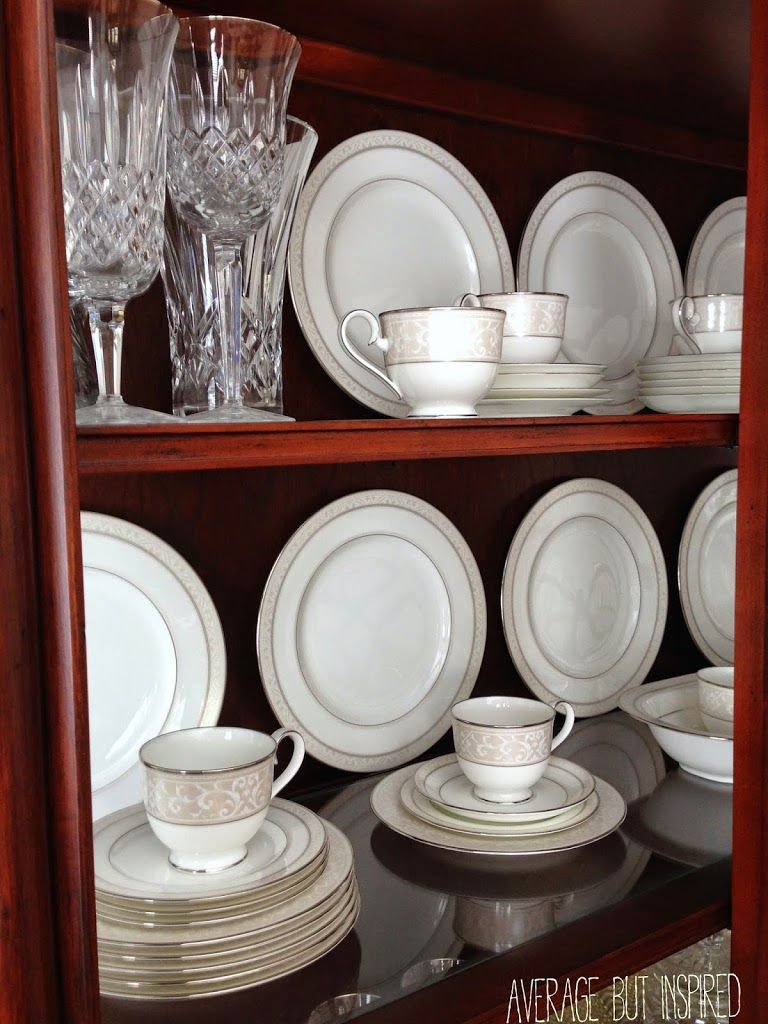 Tips on How to Arrange a China Cabinet  China cabinets