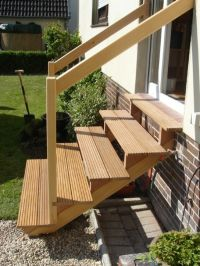 outside stair wooden steps design idea | Ideas for the ...