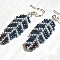 free seed bead earring patterns | ... earrings! These are ...