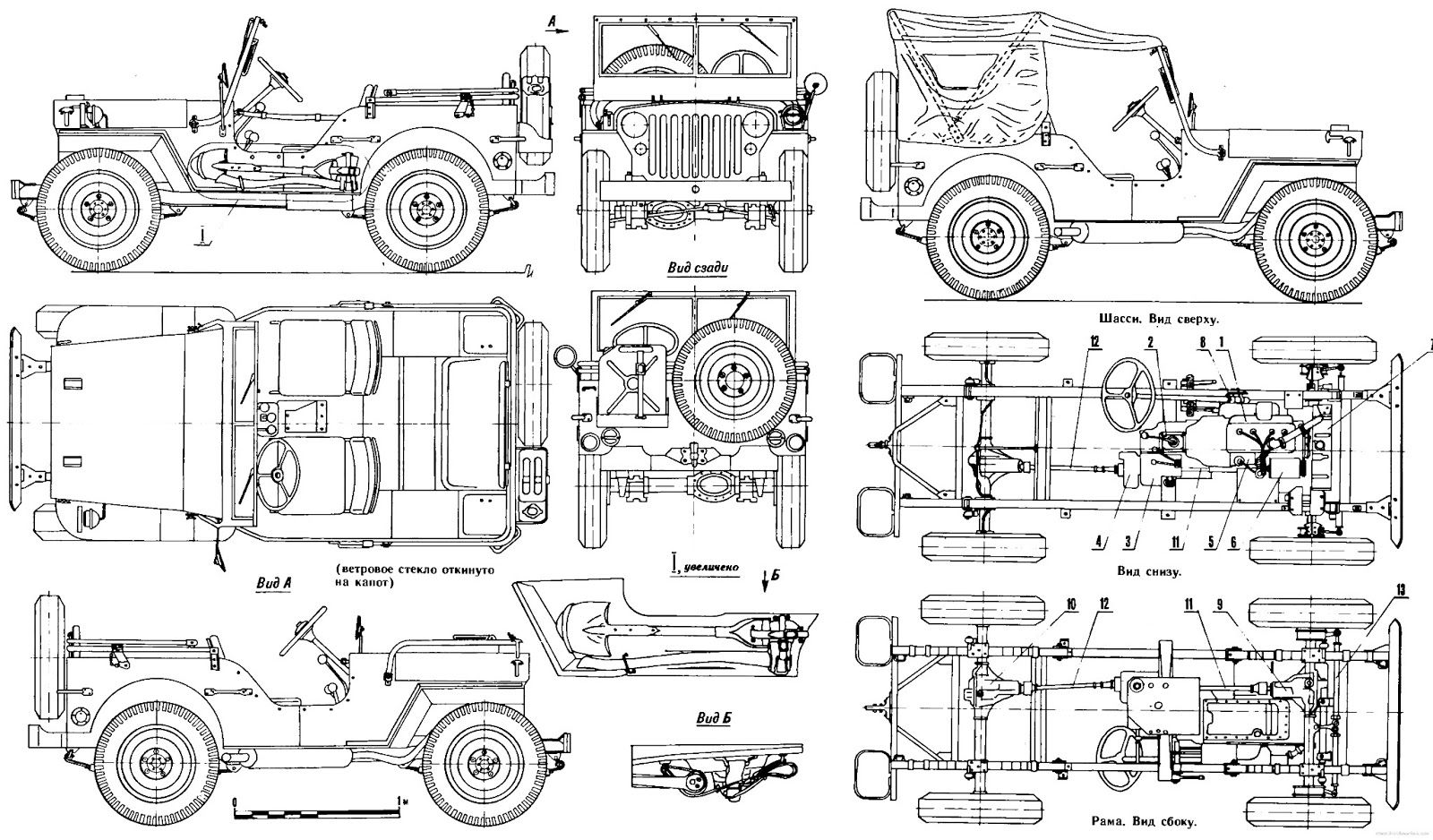 Jeep Willy Blueprint