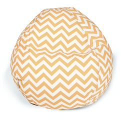Mustard Yellow Bean Bag Chair Cover Rentals In Kansas City Mo Chevron Zig Zag 28 Inch
