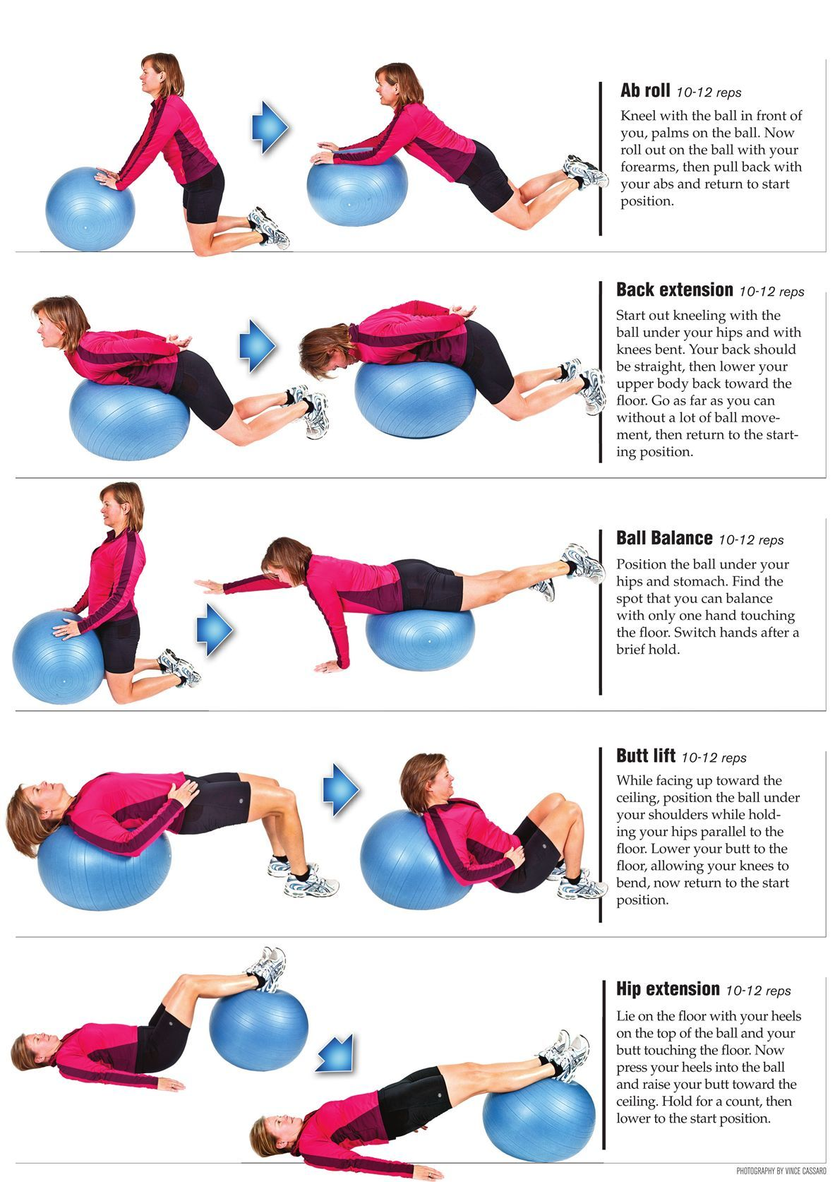 lower back exercises diagram 2002 gmc envoy parts exercise with stability ball fitness pinterest