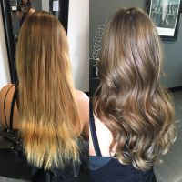 From golden blonde to a natural light ash brown. Olaplex ...