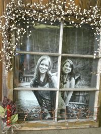 old window ~ take a pic of the kids outside and give it to ...