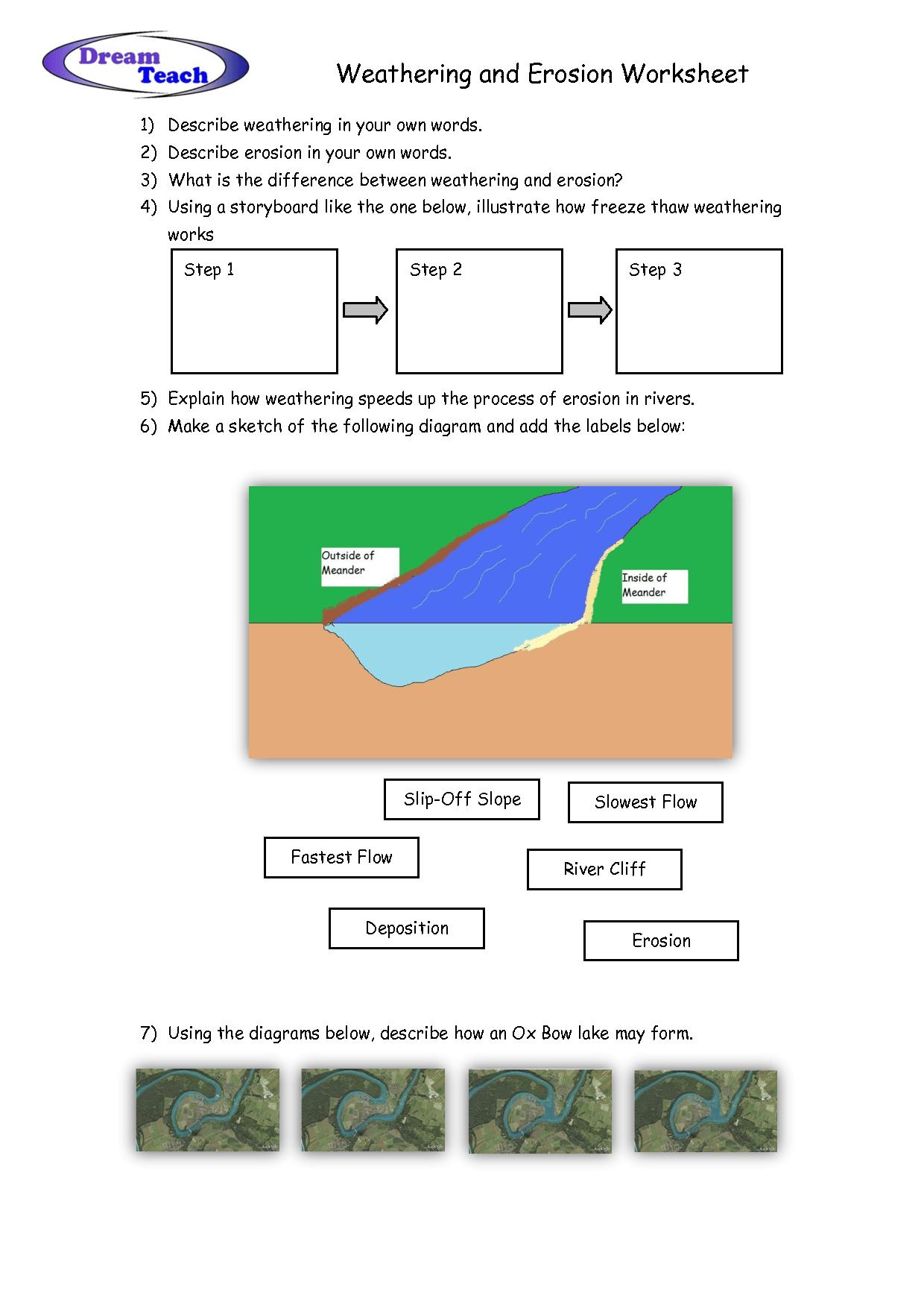 mechanical weathering diagram bargman wiring 7 way worksheet erosion and deposition worksheets