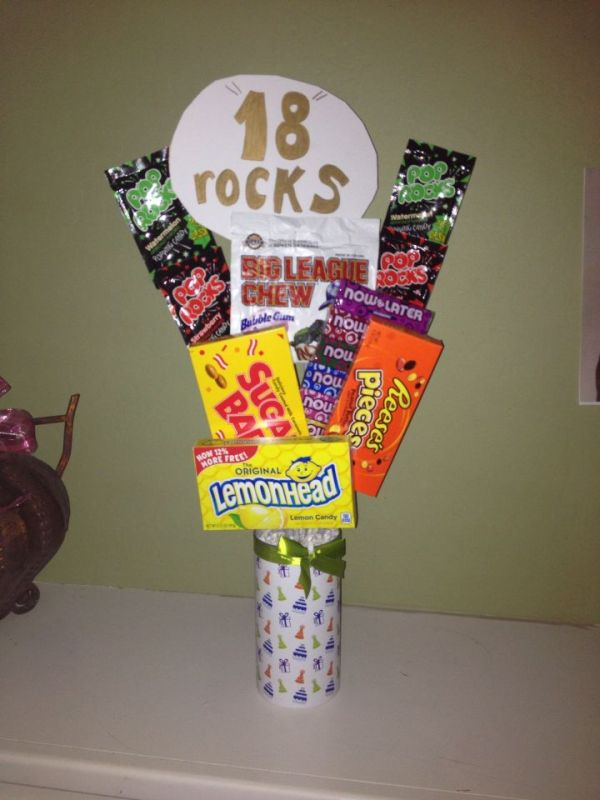 A lil candy bouquet for my sons 18th birthday made by