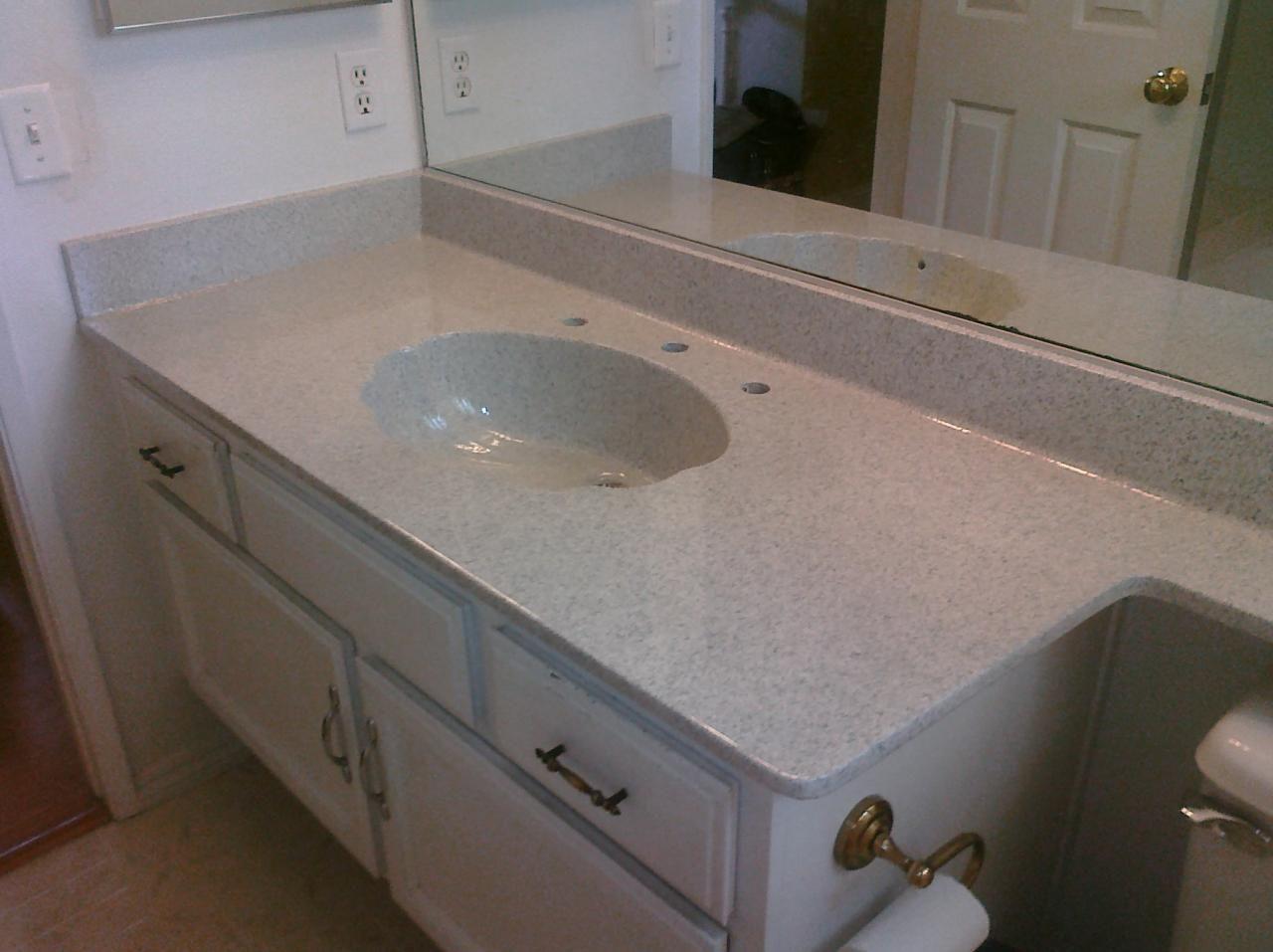 PKB Reglazing  Cultured Marble Countertop  Sink Combo