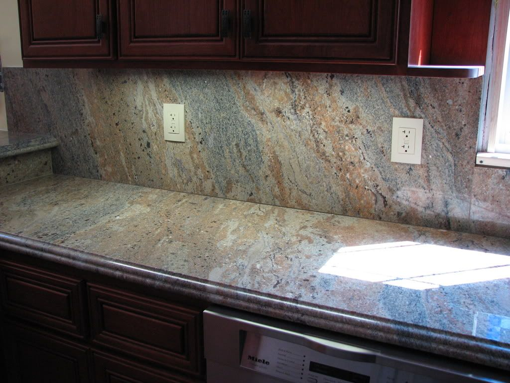 kitchen counters and backsplash rattan chairs hi all does anyone have any pictures of a full granite