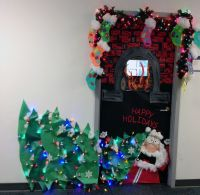 christmas door decorating contest winners | Tags: door ...