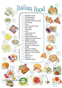 ITALIAN FOOD | Educational | Pinterest | Worksheets ...