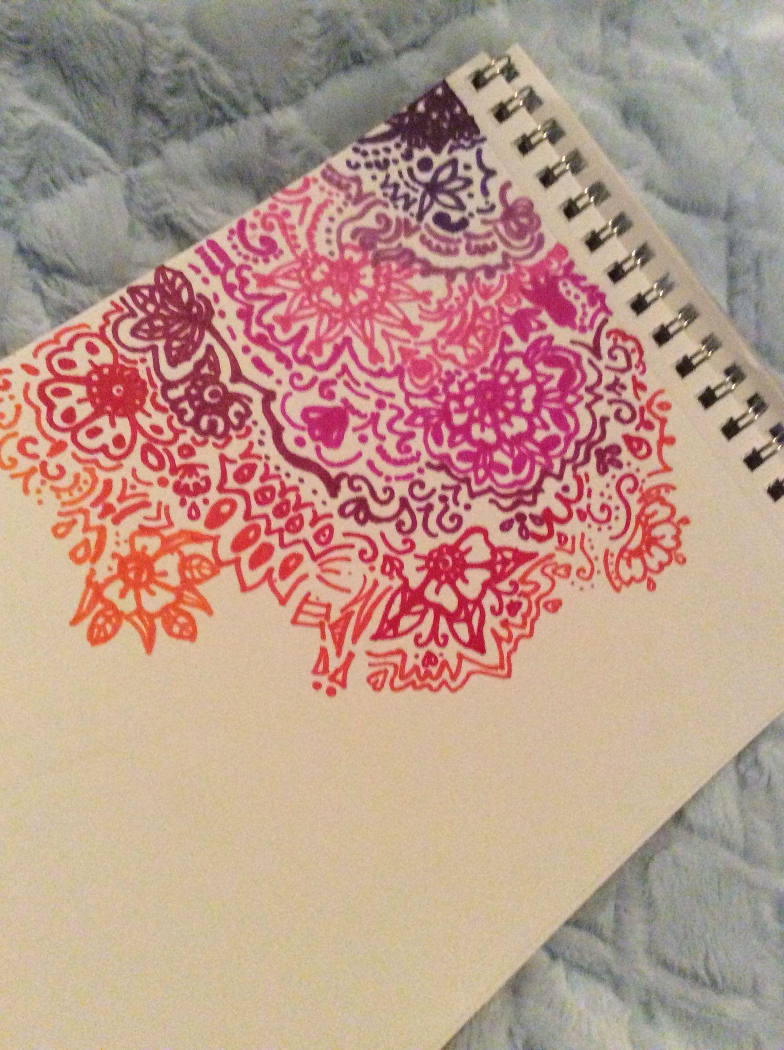 Mandala Easy Corner Drawings