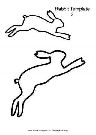 Leaping Rabbit Template...lots of free Easter and animal