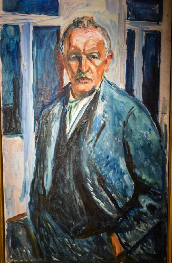 Edvard Munch - Portrait With Hands In Pockets 1926