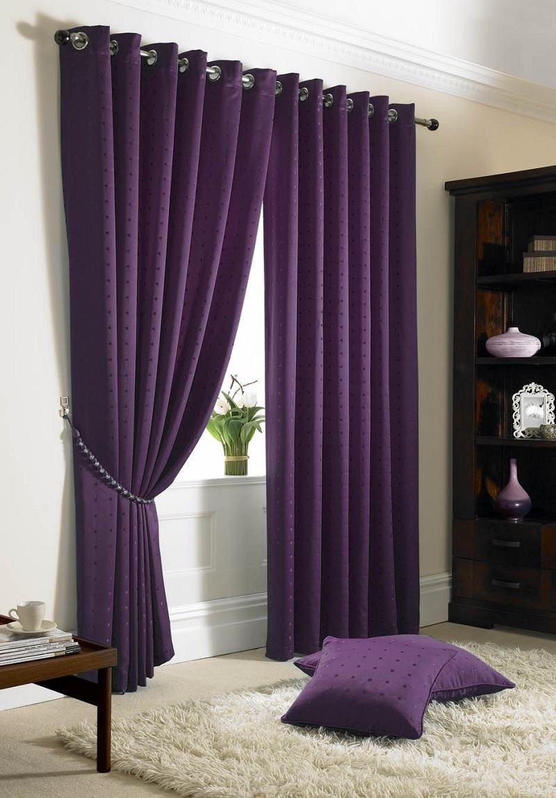 Dark Purple Curtains Madison Eyelet Curtains Purple A