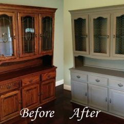 White Distressed Kitchen Cabinets Renovation Costs Best 25+ Hutch Redo Ideas On Pinterest | Makeover ...