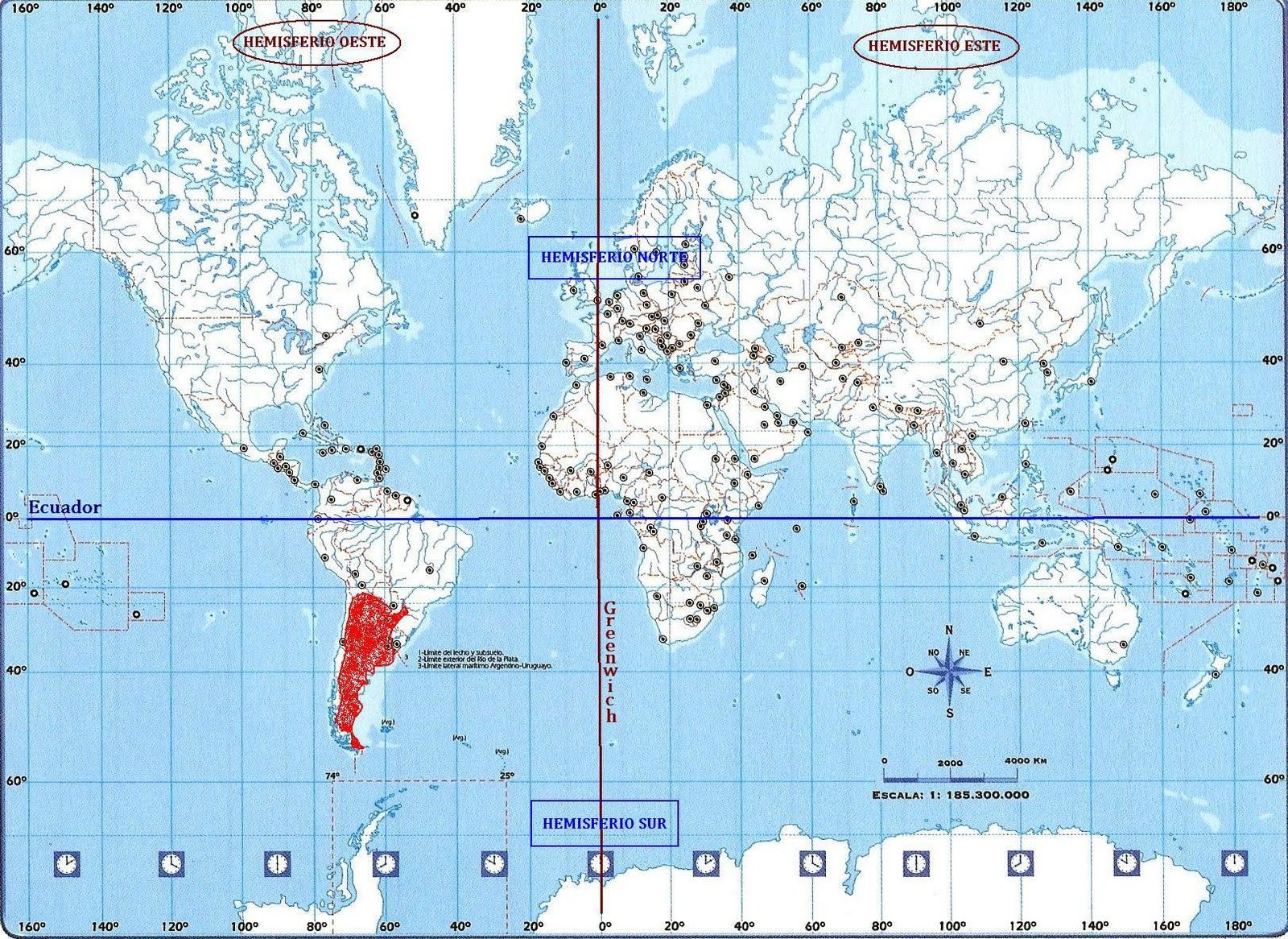 Ecuador Y Meridiano De Greenwich