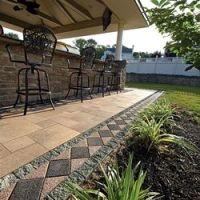 Patio Border Ideas | Ann Arbor Brick Patio Pavers, Accents ...