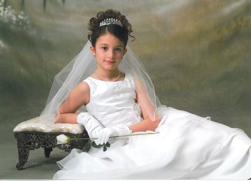 Communion Updos Hair Style First Communion Hairstyles With Tiara