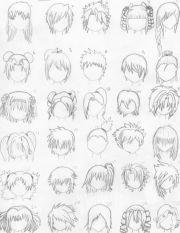 draw anime hair styles 1