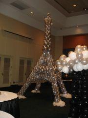 night in paris prom balloons