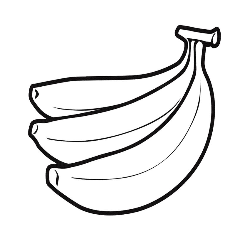 Banana Fruit Coloring Page For Kids Fruits Coloring Pages