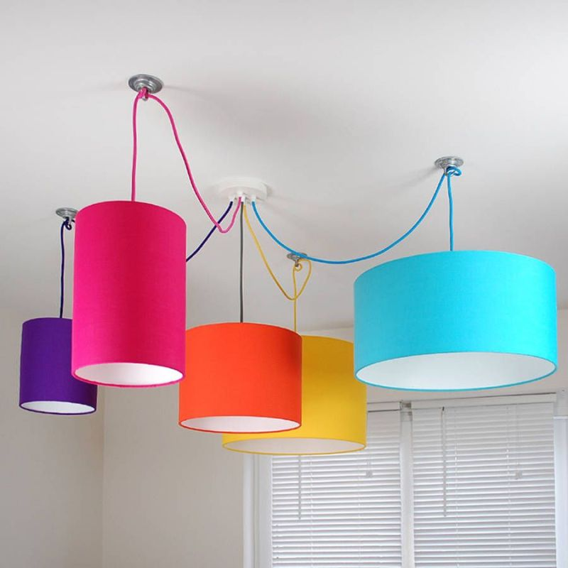 Coloured Ceiling Light Shades