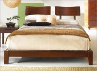 Japanese Inspired Wood Platform Zen Edo Bed & Headboard ...