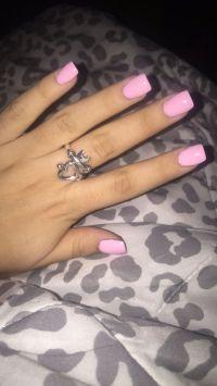 Light pink short acrylics.   NAILS   Pinterest   Short ...