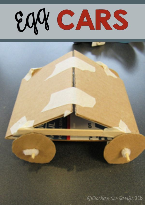 Stem Activity Challenge Build Egg Car Featuring Newton