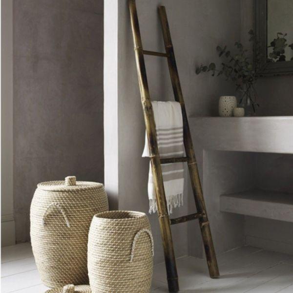 Bamboo Ladder Towel Rack Natural Love