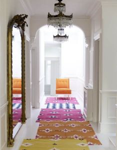 The india pied  terre has an open floor plan for entry living and dining areas it   big enough that no one rug would fill so  like idea of also bright layered rugs colour me small pinterest layering rh