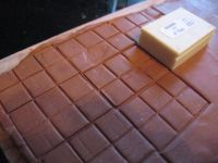 How to make (dollhouse) terracotta kitchen tiles from clay ...