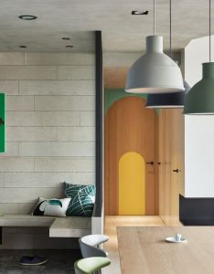 Image of from gallery blue and glue hao design also colorful modern apartment for  family with small children dinning rh pinterest