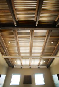 Corrugated ceiling in office. | Metal Accents | Pinterest ...