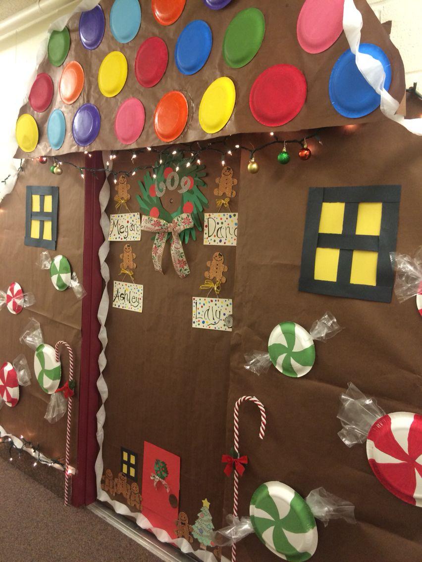 Gingerbread House, door decorating contest!