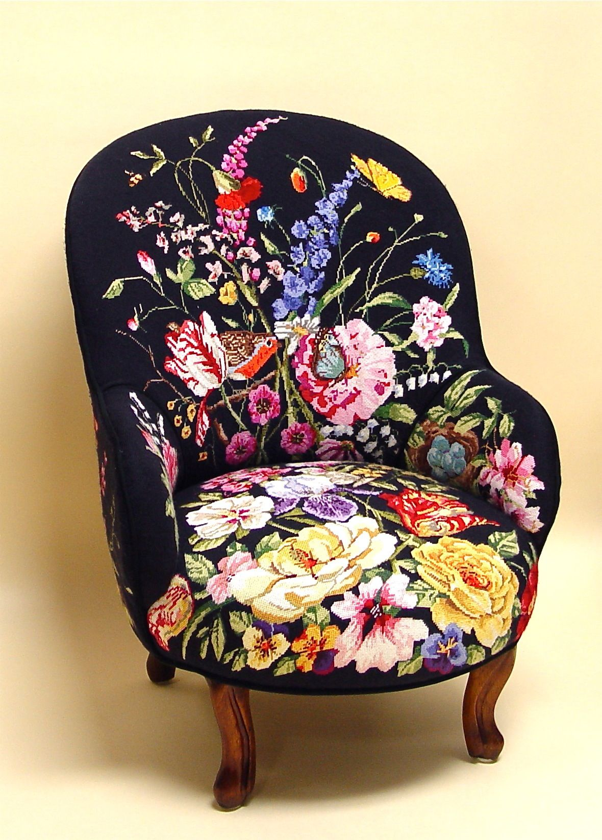 Floral Chairs Needlepoint Armchair In Sane So Gorgeous For The Home