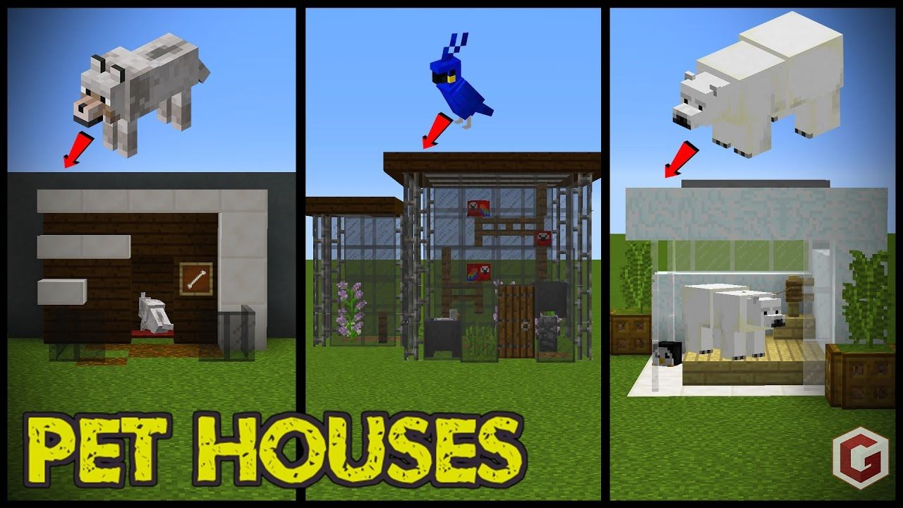 29 Minecraft Pet Animal House Designs! YouTube Downlods