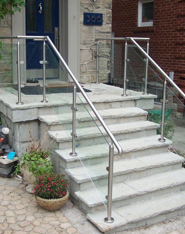 Outdoor Metal Stair Railings Handrails